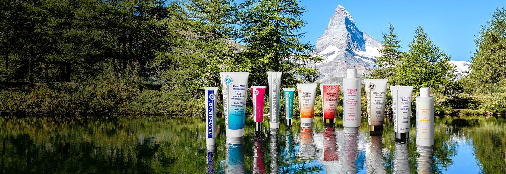 The first vitamin B12 skincare range, designed and made in Switzerland
